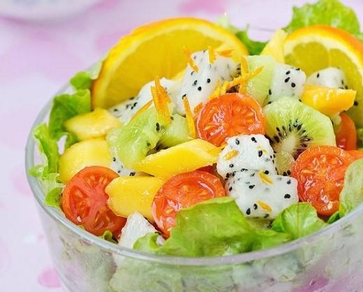 Cách làm salad hoa quả ngon miệng đẹp da